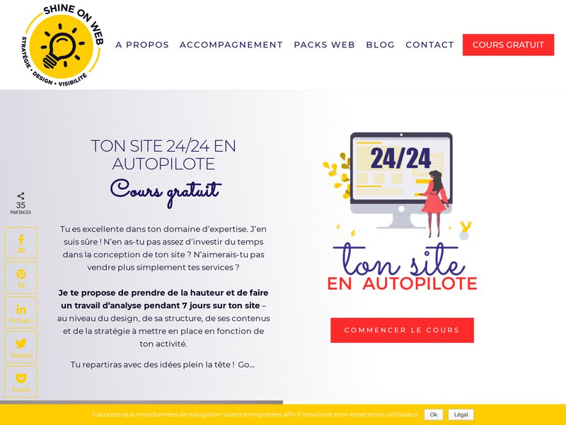 Shine on web, création de sites internet et services de marketing et communication digitale