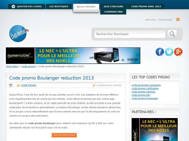 Code promo et reduction Boulanger.fr