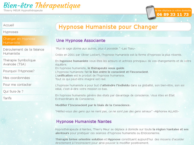 Hypnose humaniste à Nantes : Osez changer !