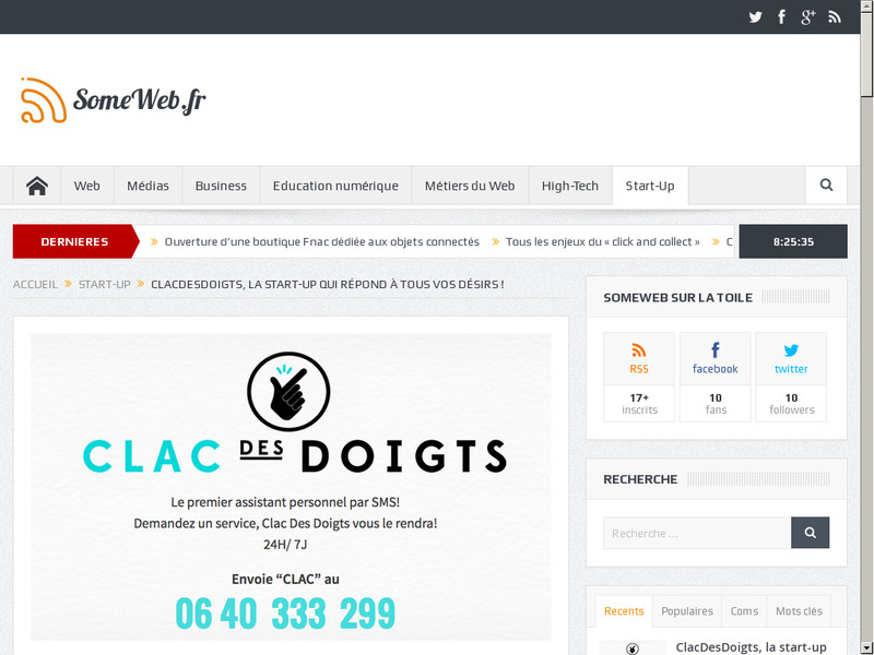 ClacDesDoigts : La nouvelle start-up