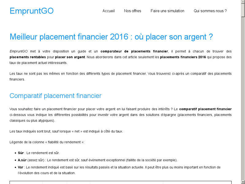 Comment réussir son placement financier ?