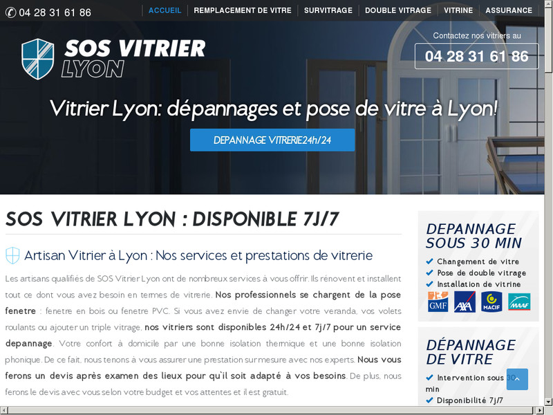 sos vitrier lyon entreprise de vitrerie lyon. Black Bedroom Furniture Sets. Home Design Ideas