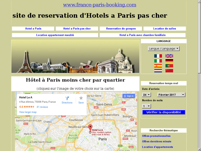 France paris booking site de r servation d h tels pas for Hotel pas cher en france