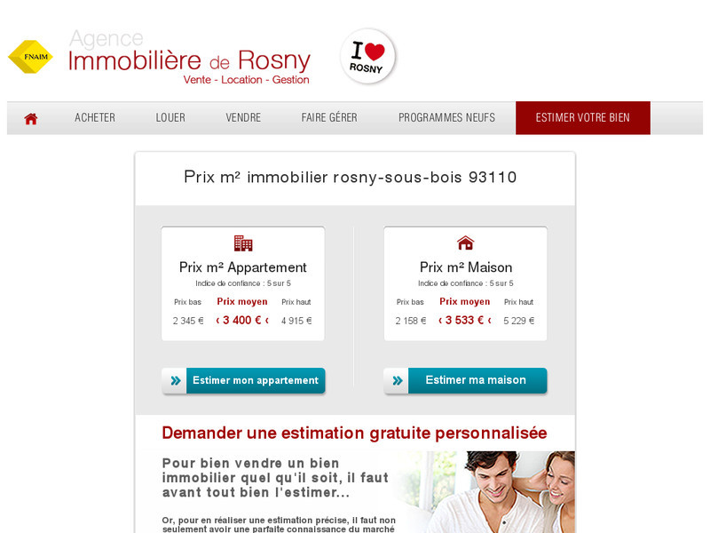 Immobili u00e8re de Rosny Agence immobili u00e8re sur la ville de Rosny sous Bois # Agence Immobilière Rosny Sous Bois