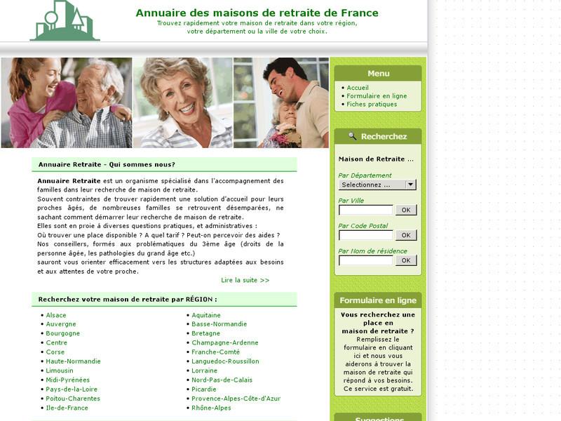 Annuaire retraite trouver une maison de retraite for Annuaire maison de retraite