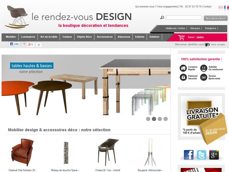 le rendez vous design boutique en ligne de mobilier design. Black Bedroom Furniture Sets. Home Design Ideas