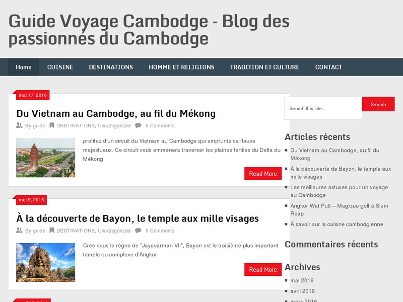 Guide Voyage Cambodge