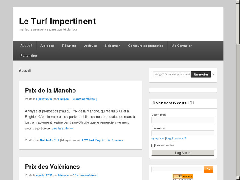 Le Turf Impertinent