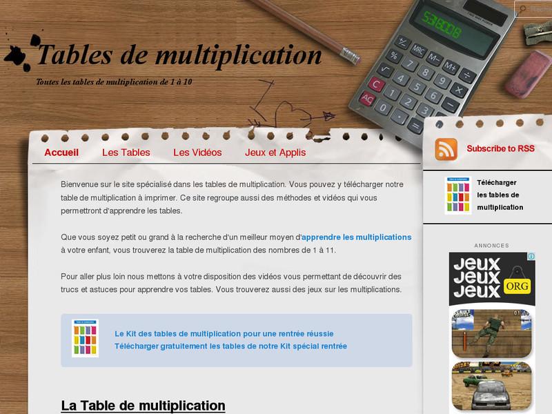 La table de multiplication trucs et astuces pour les - Apprendre tables de multiplication facilement ...