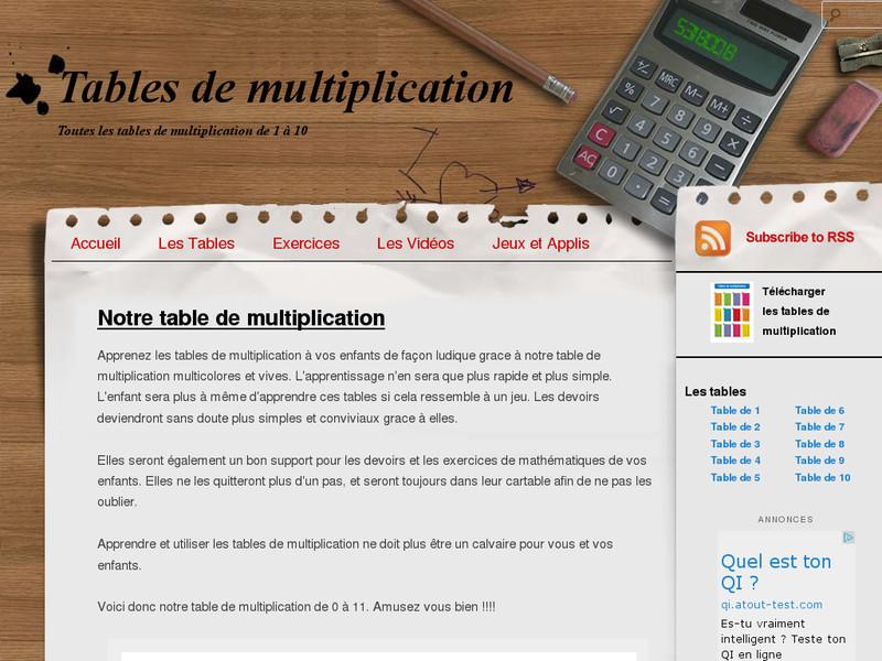 La table de multiplication trucs et astuces pour les for Comment apprendre ses tables de multiplication facilement
