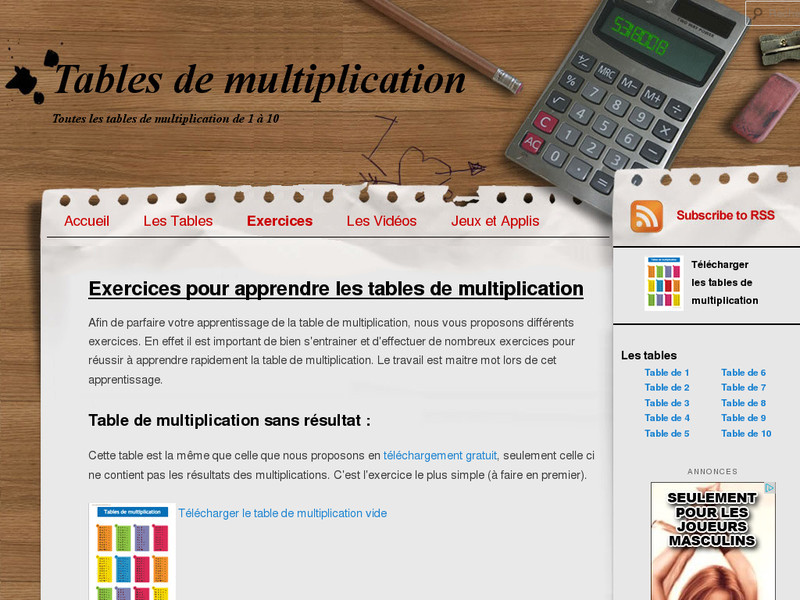 La table de multiplication trucs et astuces pour les apprendre facilement - Apprendre les tables de multiplications facilement ...
