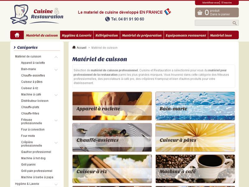 Cuisine et restauration mat riel pour cuisine for Site materiel cuisine