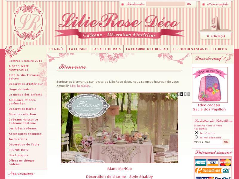 lilie rose d co boutique de d coration de charme et vintage. Black Bedroom Furniture Sets. Home Design Ideas
