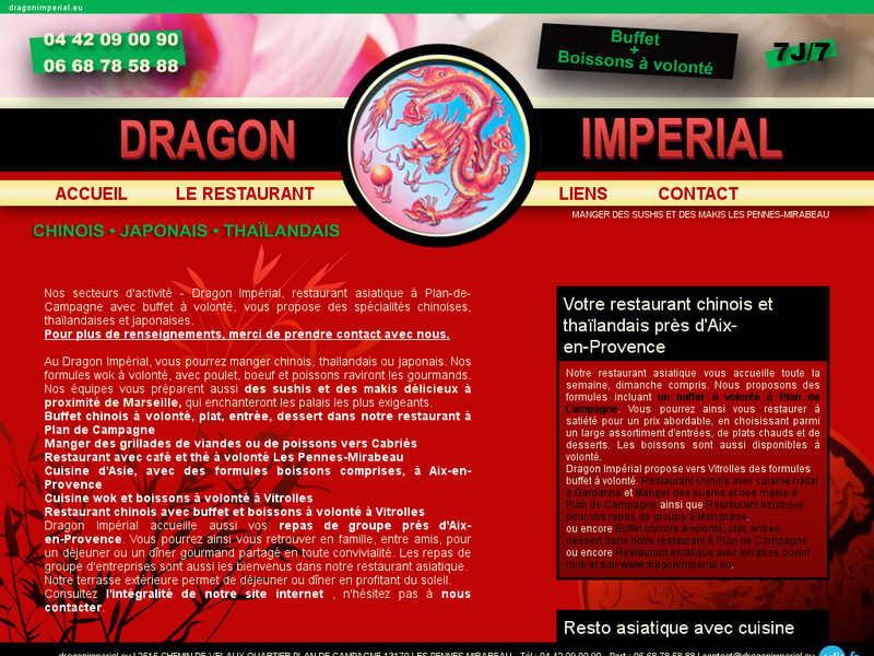 dragon imp rial restaurant chinois et asiatique plan de campagne. Black Bedroom Furniture Sets. Home Design Ideas