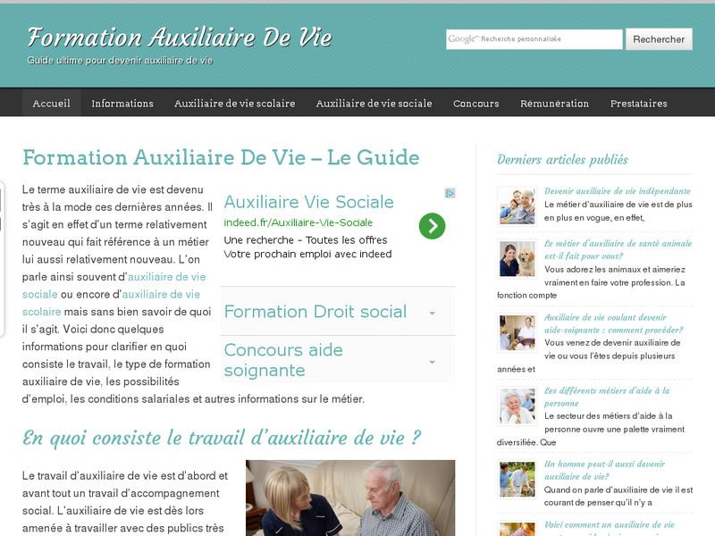 Formation Auxiliaire De Vie Le Guide Complet De La Formation En