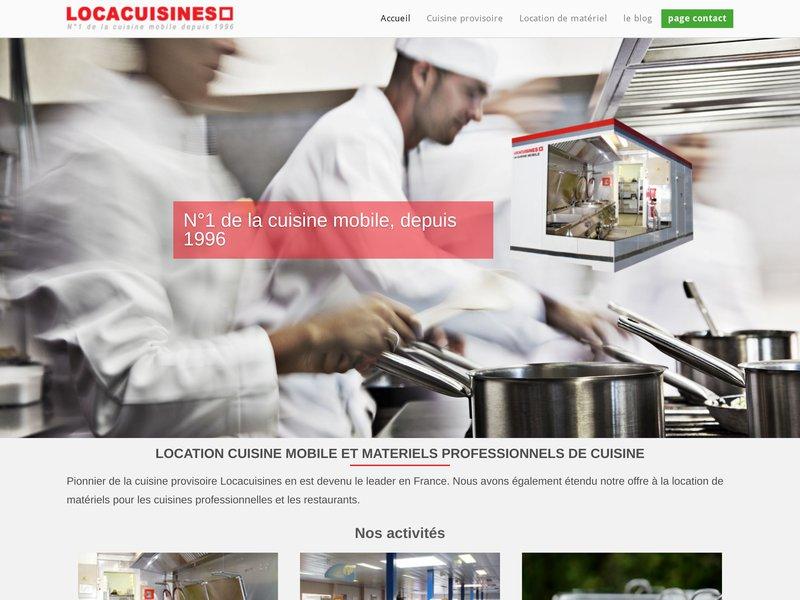 Locacuisines la cuisine mobile et la location de - Location materiel cuisine professionnel ...