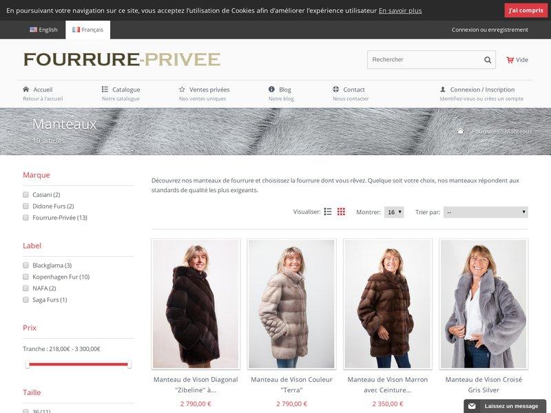 Fourrure priv e vente priv e en ligne de fourrure pas ch re - Meilleur site de vente privee en ligne ...