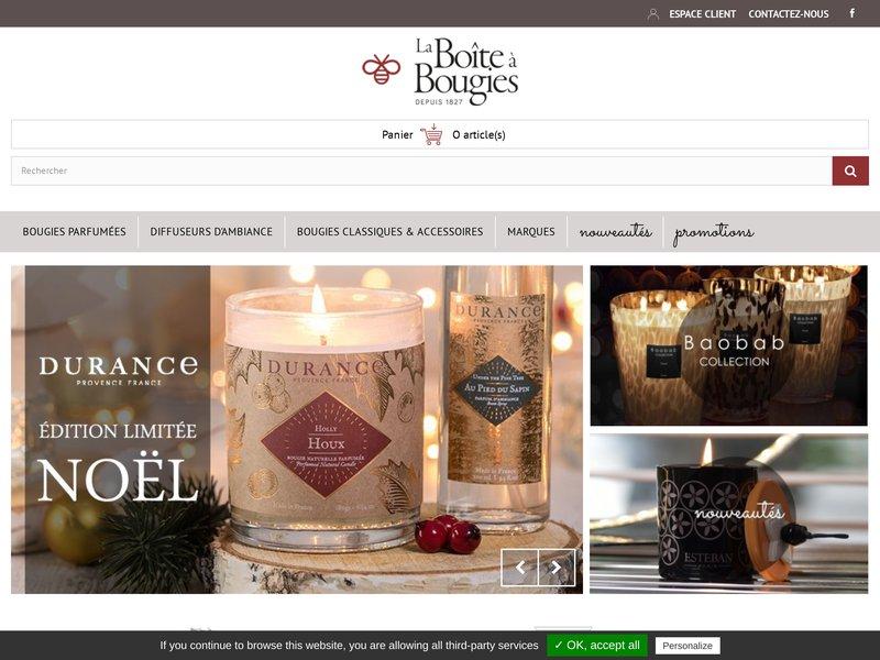 la boite a bougies boutique en ligne de bougies parfum es. Black Bedroom Furniture Sets. Home Design Ideas