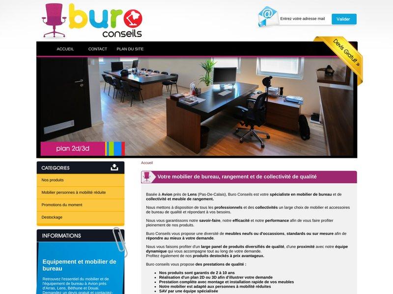 buro conseils vente mobilier de bureau dans le pas de calais