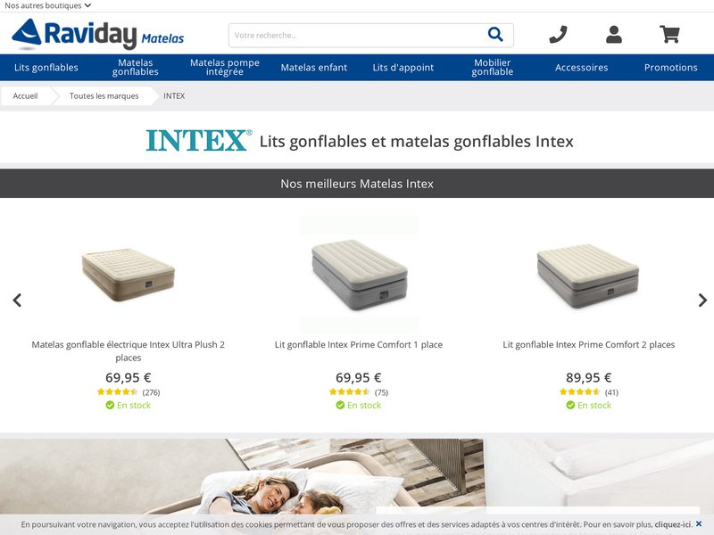 raviday matelas le sp cialiste du matelas gonflable intex sur internet. Black Bedroom Furniture Sets. Home Design Ideas
