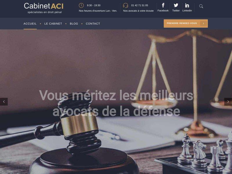 Cabinet aci sp cialiste en droit p nal et g n raliste - Cabinet droit fiscal paris ...