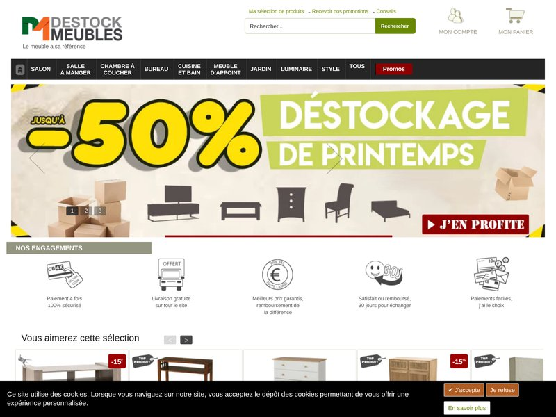 Destock meubles meuble design contemporain et classique for Destock meuble