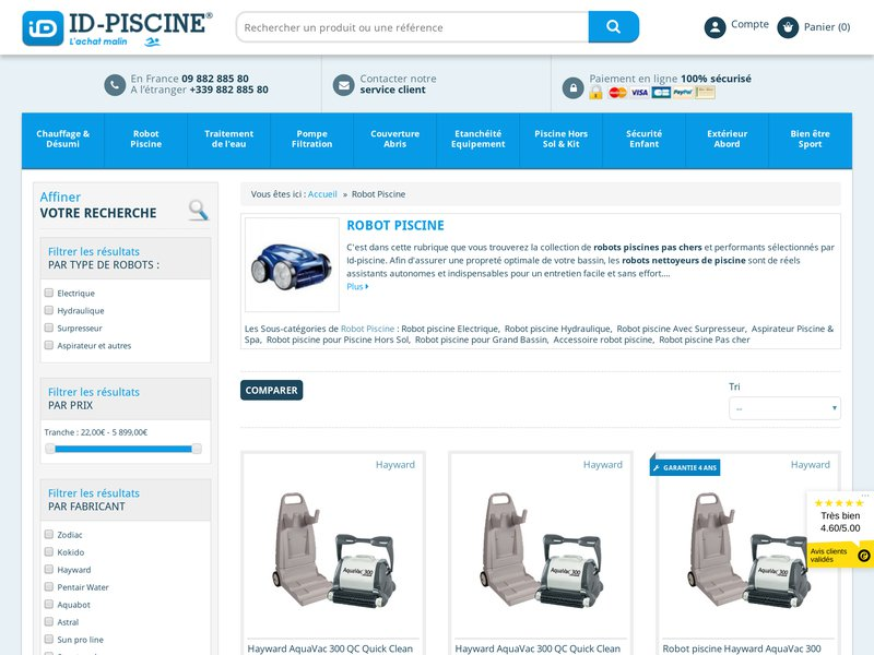 Id piscine mat riel de piscine petit prix sur internet for Piscine internet