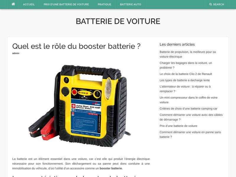 guide pratique de batterie de voiture portail en ligne sur les batterie de voiture. Black Bedroom Furniture Sets. Home Design Ideas