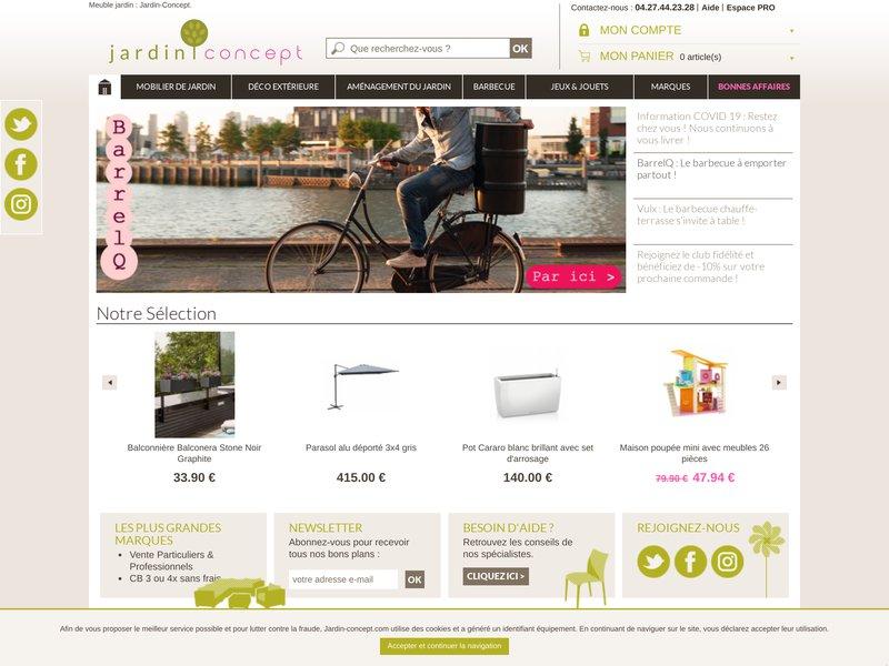 Jardin concept meuble et objet pour votre jardin for Critique site meubles concept
