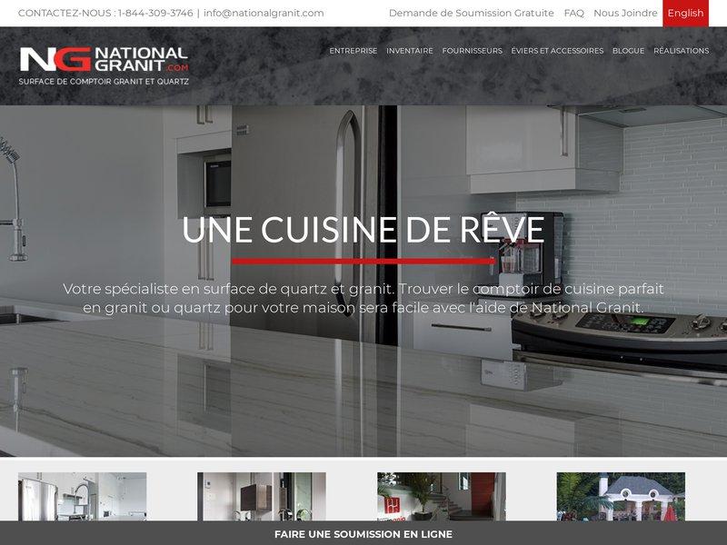 National granit le sp cialiste en comptoir de granite et - Le comptoir de l industrie ...