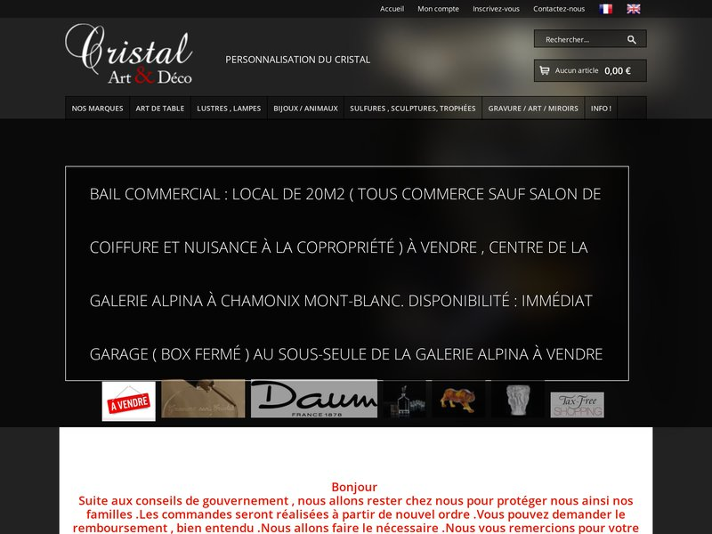 """Résultat de recherche d'images pour """"""""cristal art & déco"""""""""""