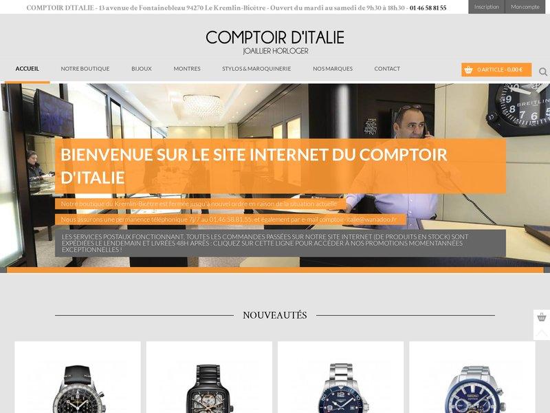 Comptoir d 39 italie boutique en ligne de vente de bijoux et de montres de qualit - Comptoir irlandais vente en ligne ...