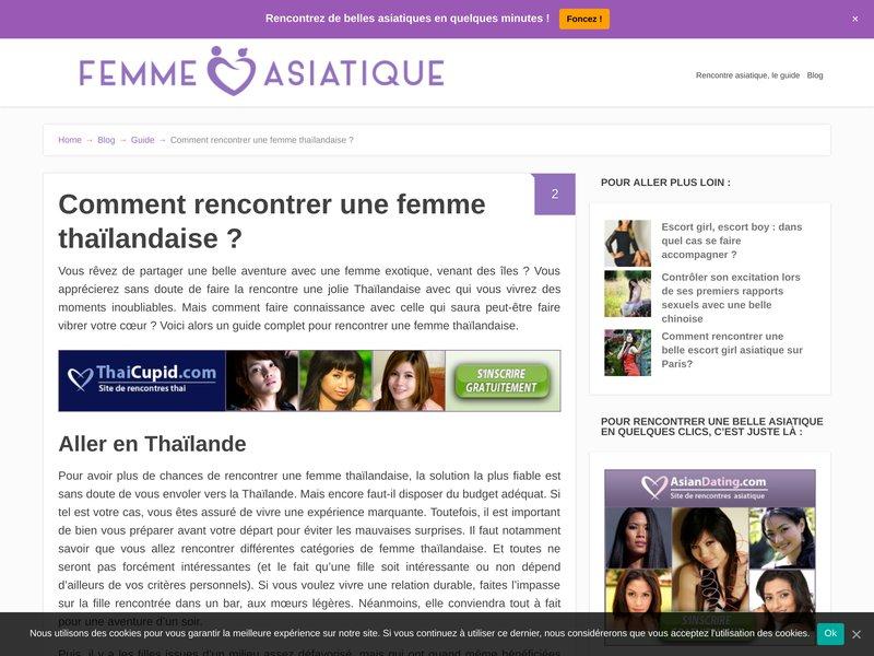 Site de rencontre fille thailandaise