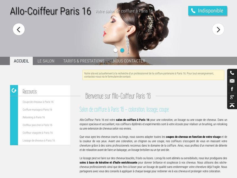 Allo coiffeur paris 16 votre salon de coiffure paris 16 for Salon de coiffure paris 16