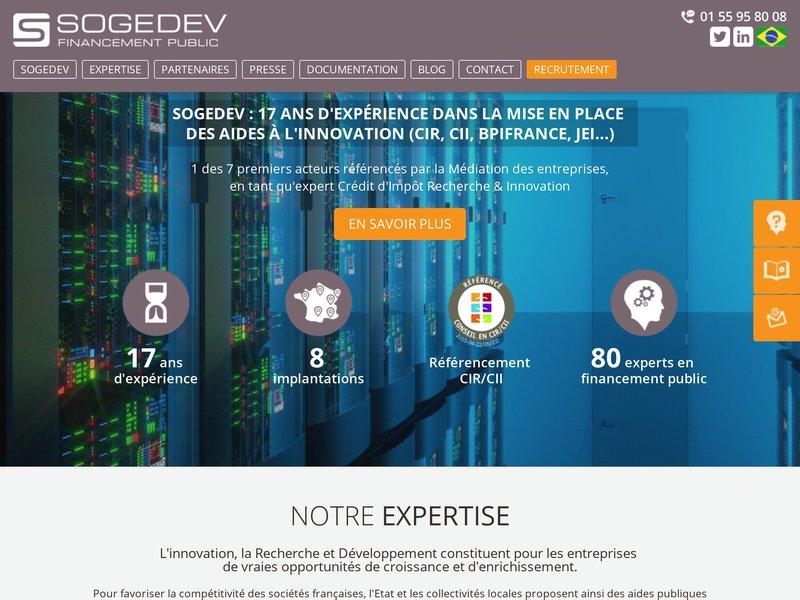 Sogedev cabinet de conseil en financement public - Cabinet de conseil en developpement international ...