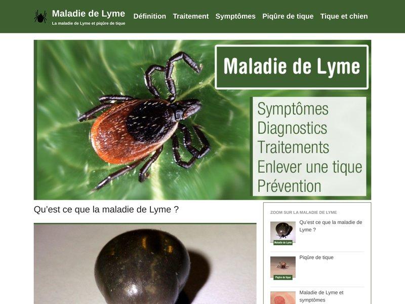 la maladie de lyme site sur le diagnostic et les traitements de la maladie de lyme. Black Bedroom Furniture Sets. Home Design Ideas