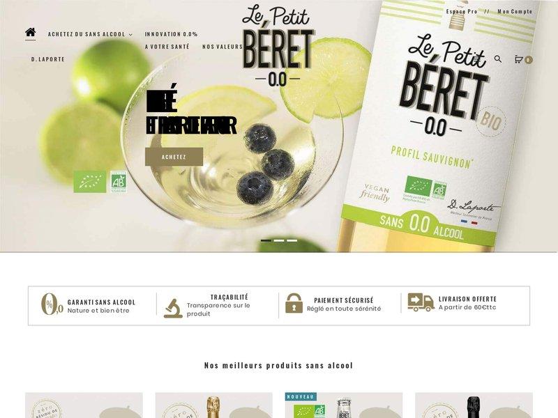 le petit b ret vente en ligne de vins sans alcool. Black Bedroom Furniture Sets. Home Design Ideas