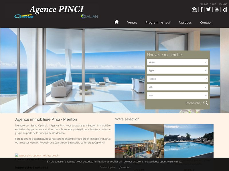 Agence pinci agence immobili re menton for Agence immobiliere menton