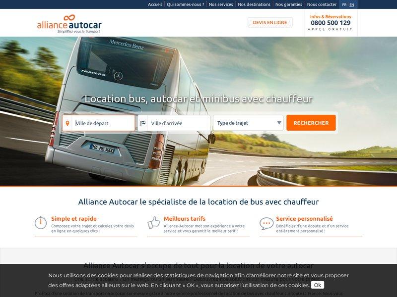 alliance autocar location de bus et d 39 autocar pour des sorties de groupe. Black Bedroom Furniture Sets. Home Design Ideas