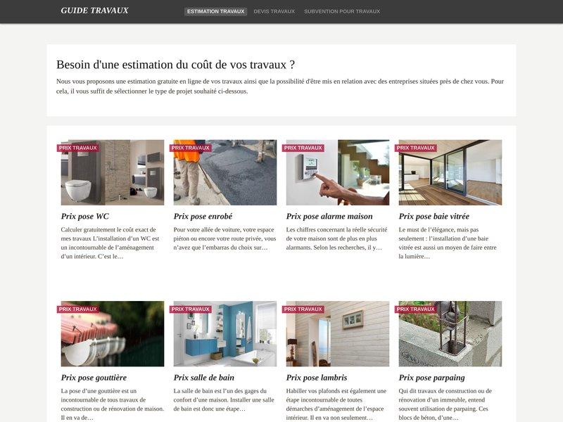 guide travaux le guide des prix travaux. Black Bedroom Furniture Sets. Home Design Ideas