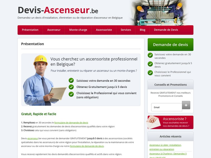 Devis ascenseur devis de r paration d 39 ascenseur en belgique - Devis travaux belgique ...