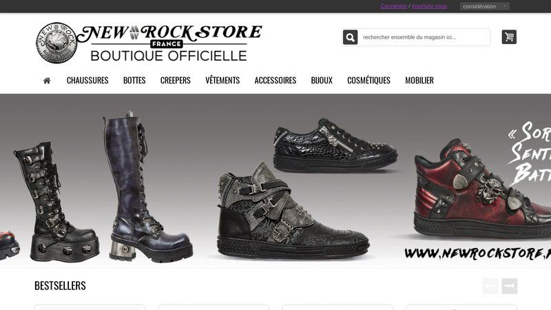 Articles de mode pour la culture rock