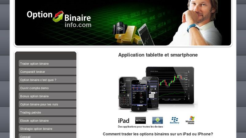 Option binaire : les applications iPhone les plus utilisées