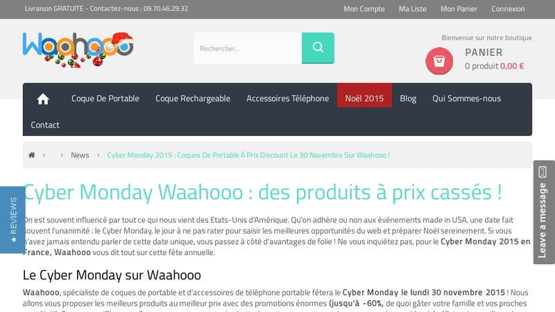 Waahooo vous invite au Cyber Monday 2015