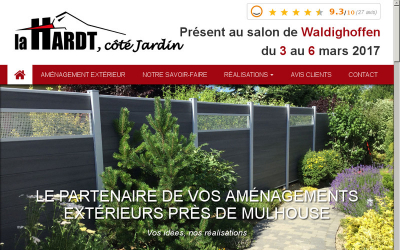 La Hardt, Côté Jardin : Aménagements extérieurs près de Mulhouse