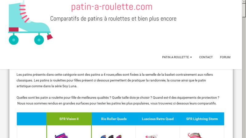Patin a roulette