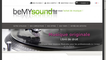 Page d'accueil du site : Be MY Sound