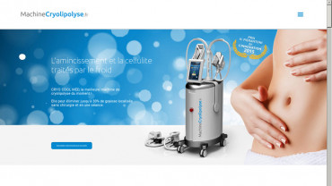 Page d'accueil du site : Machine Cryolipolyse
