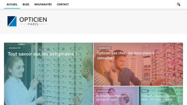 Page d'accueil du site : Opticien à Paris
