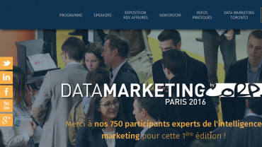 Page d'accueil du site : Data Marketing Paris